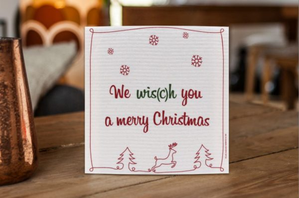 Schwammtuch Weihnachtsmotiv